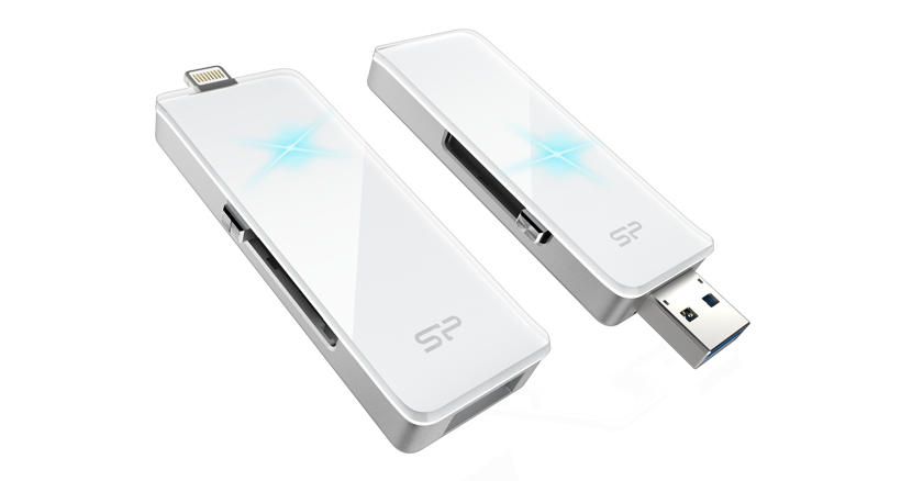 14461868185 Silicon Power SP xDrive Z30 Dual USB Flash Drive for Apple devices (32GB)