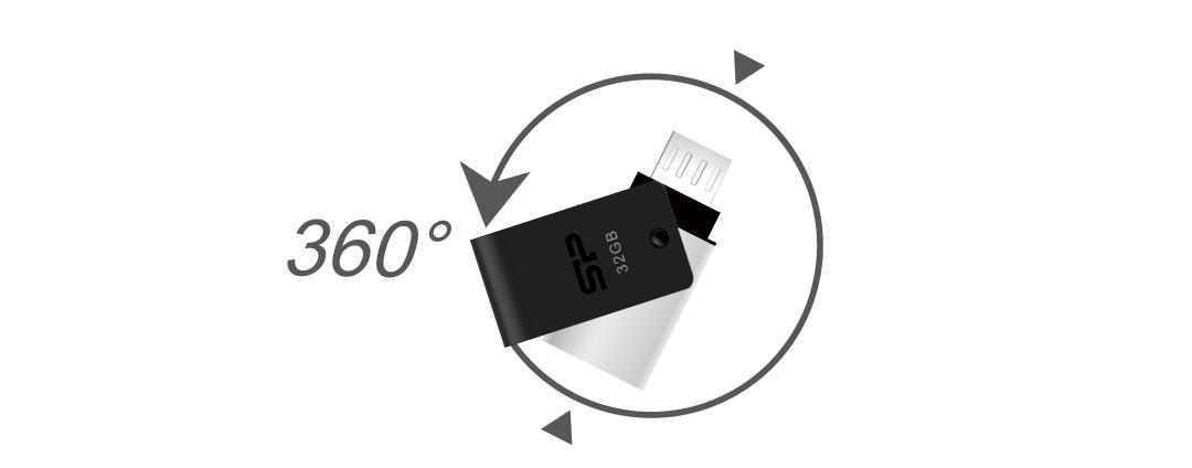 Mobile X21 360° Swivel Cap Design