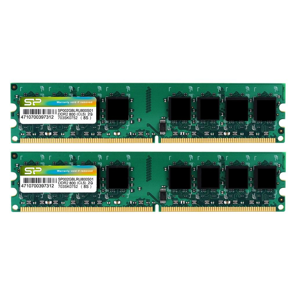 Modules mémoires DDR2 240-PIN Unbuffered DIMM_Dual Channel Kit