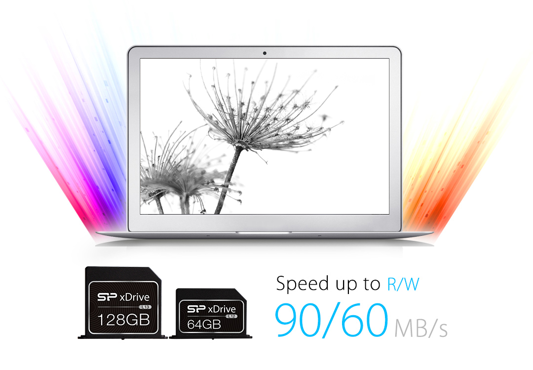 SP xDrive L12/L13 Delays, out of picture. Blazing-fast data transfer rates up to R/W 90/60MB/s