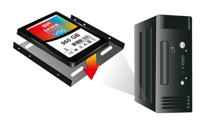"""Velox V55 3.5""""支架 更多元的升級運用"""
