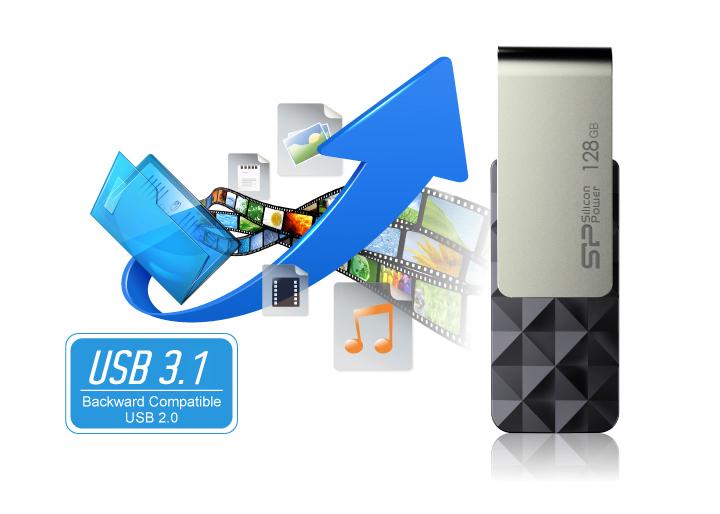 Blaze B30 USB 3.1 Gen1 極速效能展現