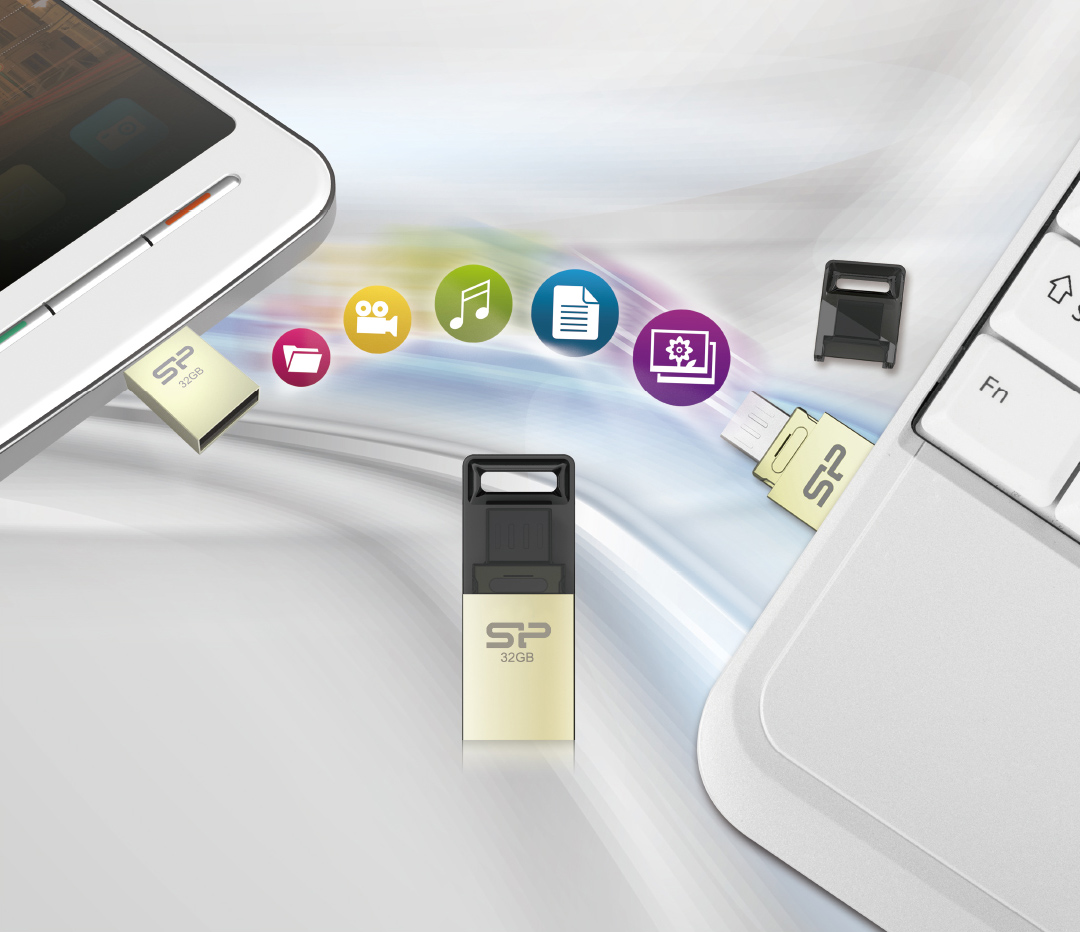Mobile X10 USB + microUSB dual interfaces for cross-device data transmission