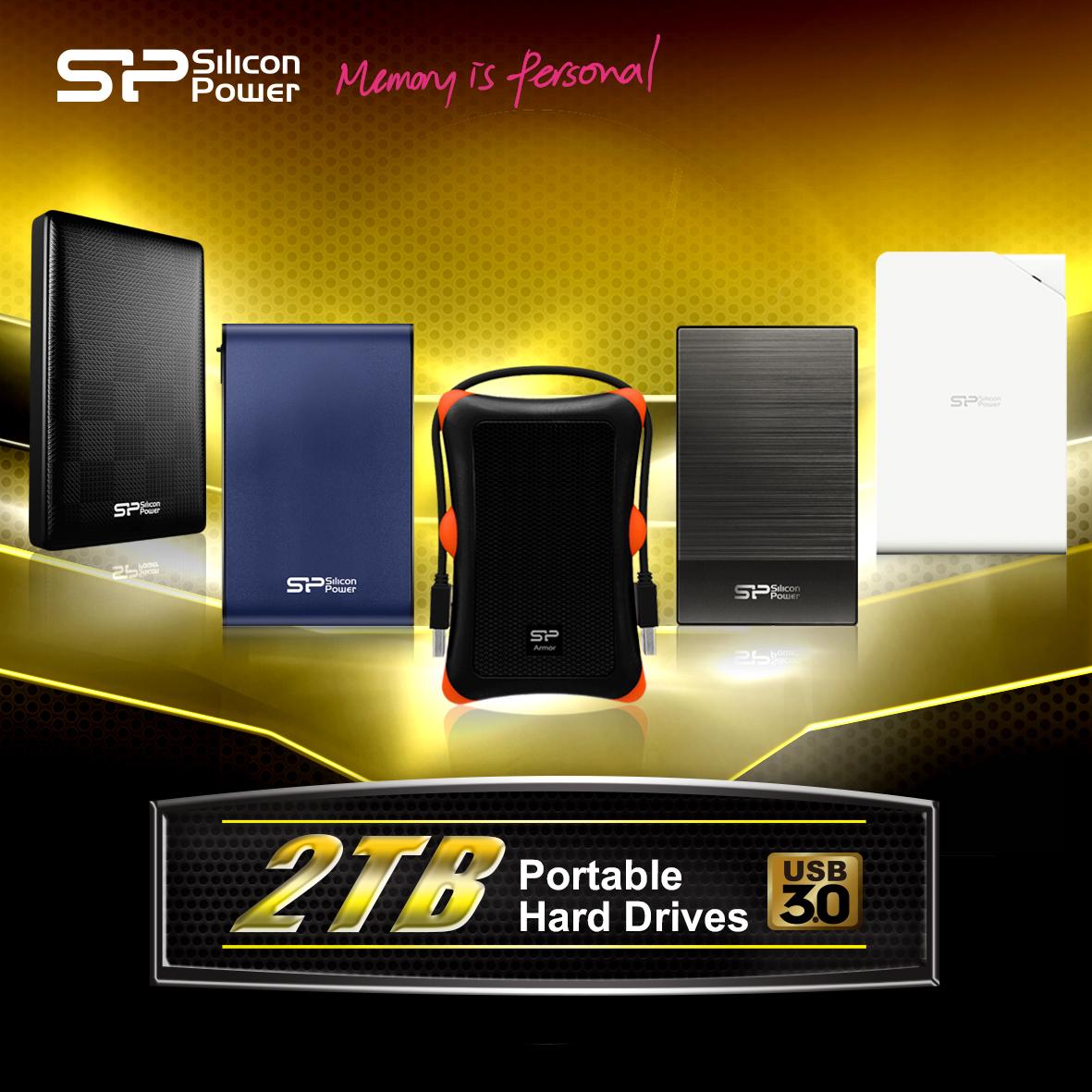 SP廣穎電通 多款2TB超大容量外接式硬碟 強悍升級-不只超量有型 勁速所向披靡