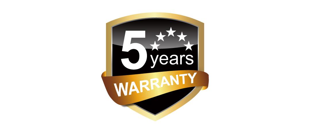 Velox V70 5-year warranty
