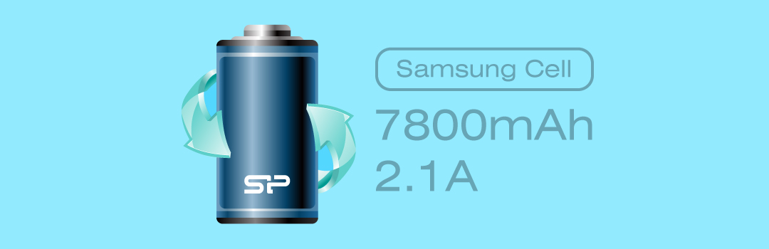Power P81 Super High Capacity of 7800 mAh with Samsung Battery Cell