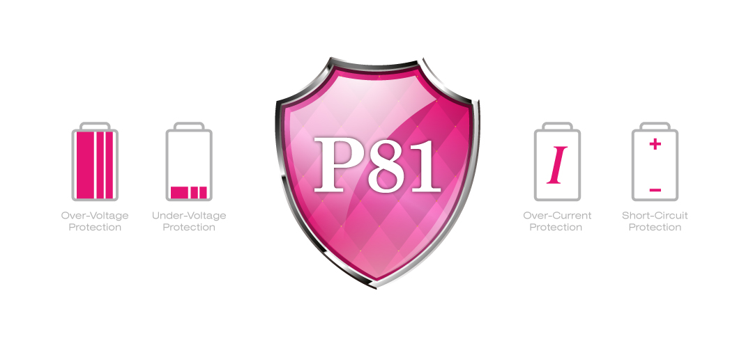 Power P81 Dual USB 2.1A Output for Super Fast Charging