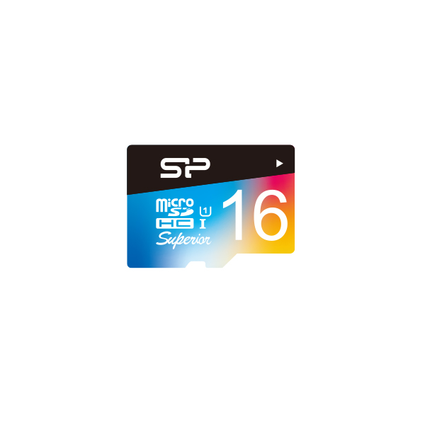 Superior microSDHC/SDXC_Colorful<br><font color='#888888' size='2%'>(Class 10. UHS-I U1. Full HD)</font>
