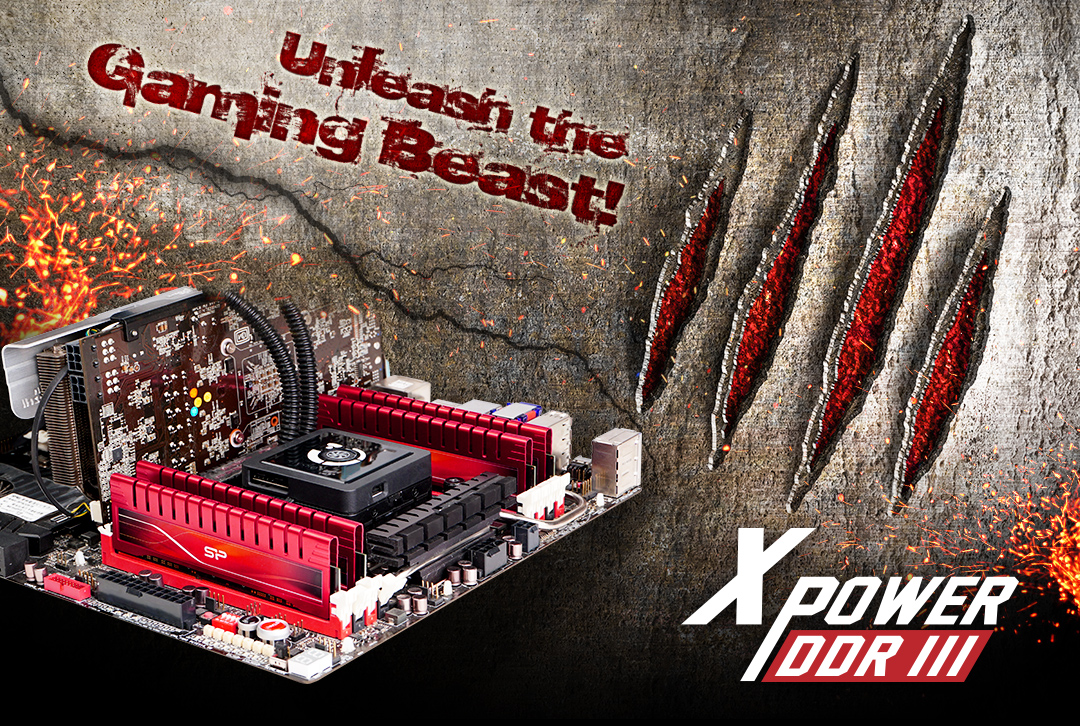 XPOWER DDR3 Gaming DIMM_Dual Channel Kit Performance boost for hardcore gamers