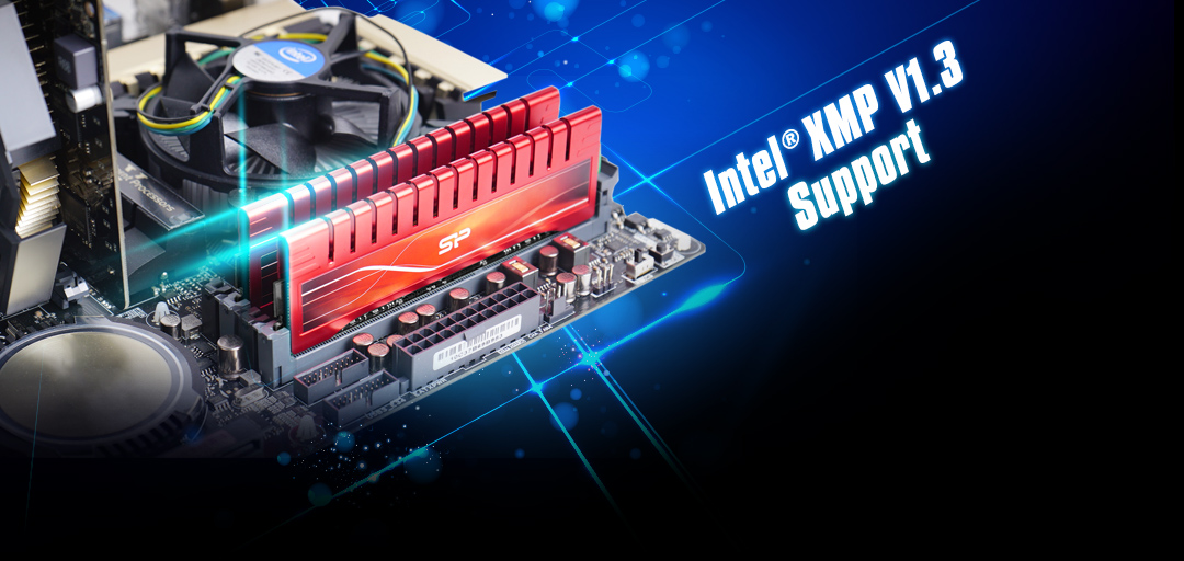 XPOWER DDR3 UDIMM<br> <font color='#888888' size='2%'>2400/2133/1866/1600 </font> Intel® XMP V1.3 Tech ready