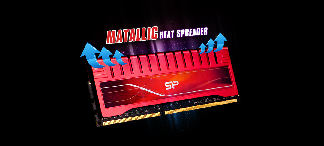XPOWER DDR3 UDIMM<br> <font color='#888888' size='2%'>2400/2133/1866/1600 </font> Efficient metallic heat spreader