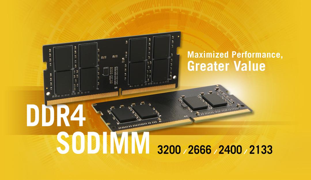 DDR4 SODIMM<br><font color='#888888' size='2%'>3200/2666/2400/2133   </font>