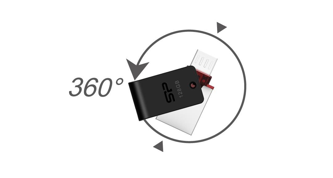 Mobile X31 360° Swivel Cap Design