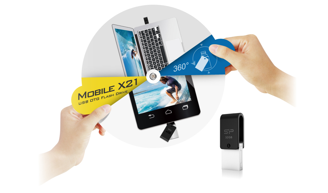 Mobile X21 USB + microUSB dual interfaces for cross-device data transmission