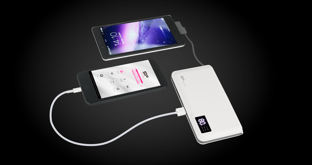 Power S103<br><font color='#888888' size='2%'>(Type-A*1, Micro-B*1)</font> Two Outputs for Two Devices - Stereo Charging!