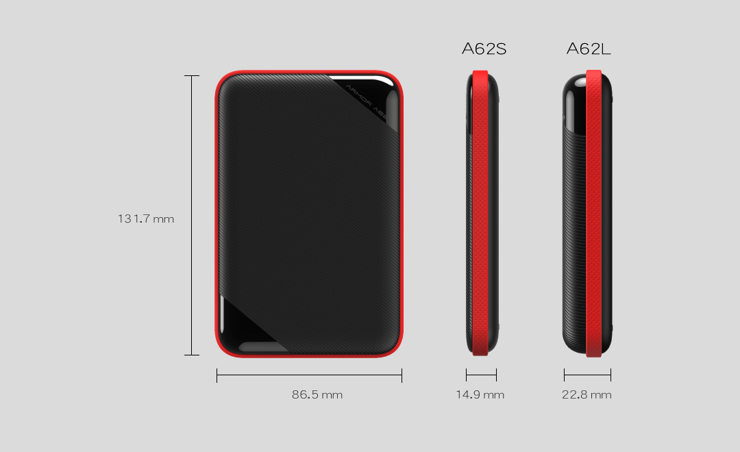 Silicon Power Armor A62 Portable HDD Black/Red 4