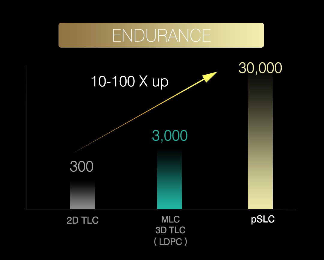 Cinema X<br><font ='#888888' size='2%'>pSLC (MLC)</font> Guaranteed Quality & Sustained Performance