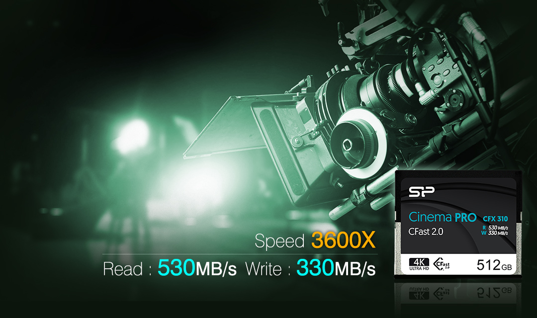 Cinema Pro<br><font ='#888888' size='2%'>MLC</font> Ultra-Fast Speeds For The Most Demanding Jobs