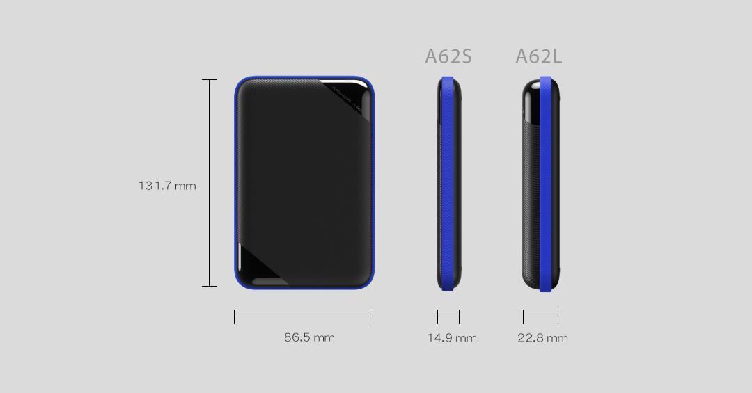 Silicon Power Armor A62 Portable HDD Black/blue 5