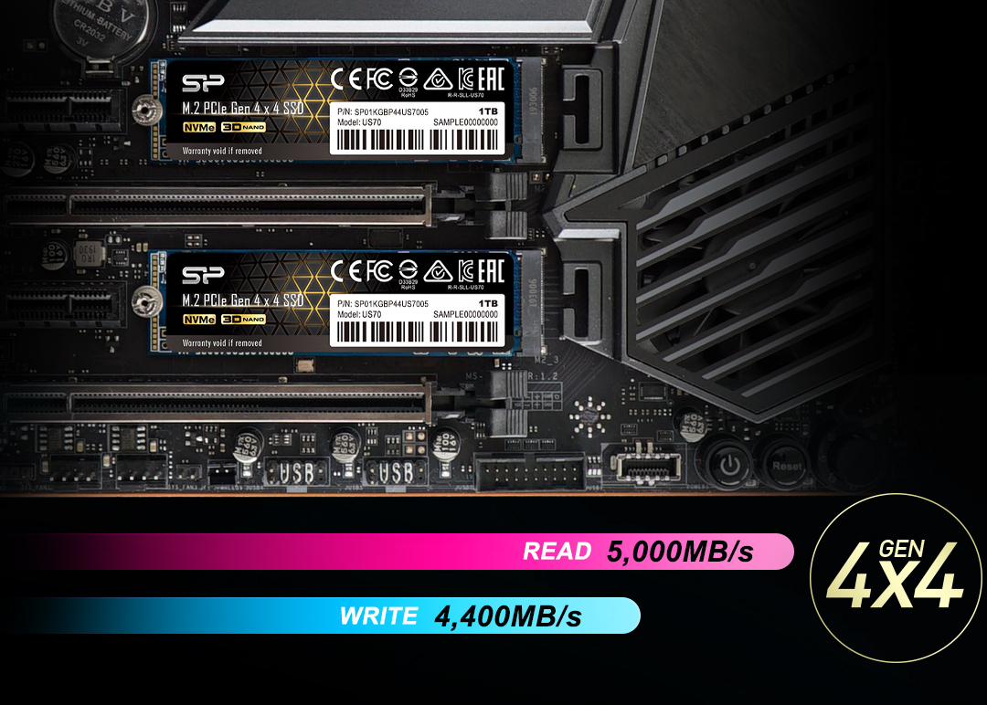 PCIe Gen4x4 US70 Race Into The Future: PCIe 4.0