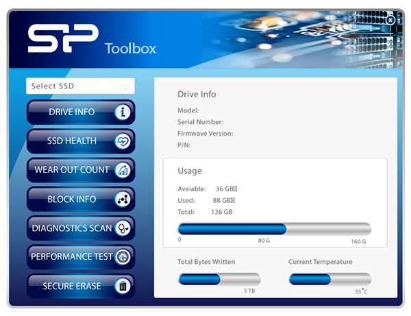 Ace A58<br><font color='#888888' size='2%'> R/W:560/530/s </font> Free-Download of SSD Health Monitor Tool - SP Toolbox Software