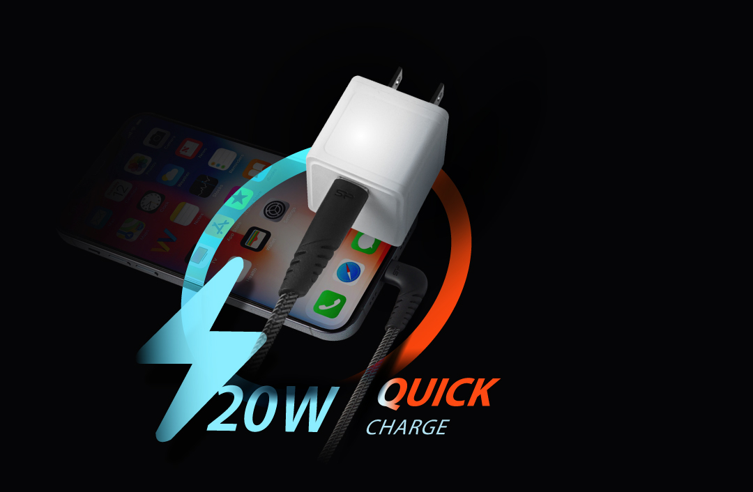 Boost Charger QM12 <br><font color='#888888' size='2%'>(Quick Charge / 20W)</font> 4x More Power With 20W Output