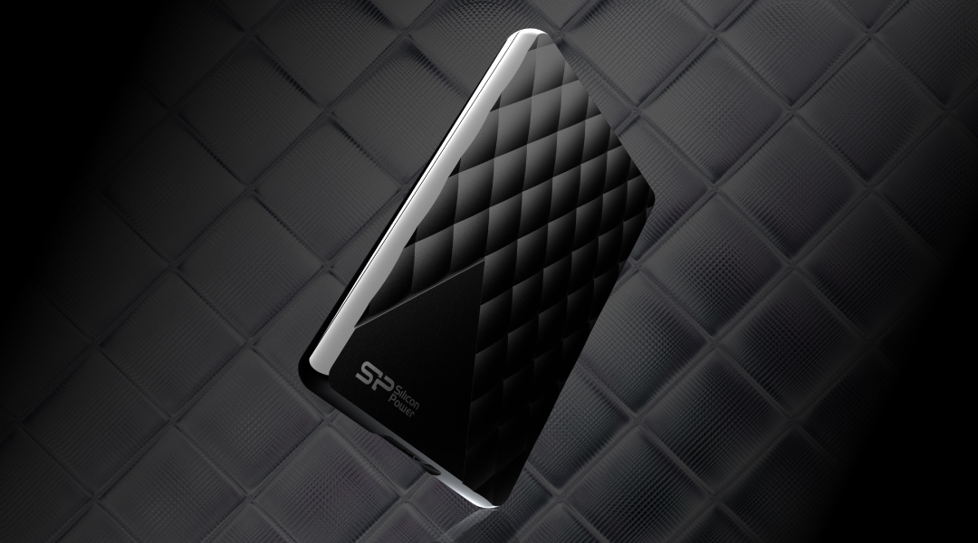 Diamond D06<br><font color='#888888' size='2%'>(portable hard drive)</font> Stay classic with diamond-check pattern