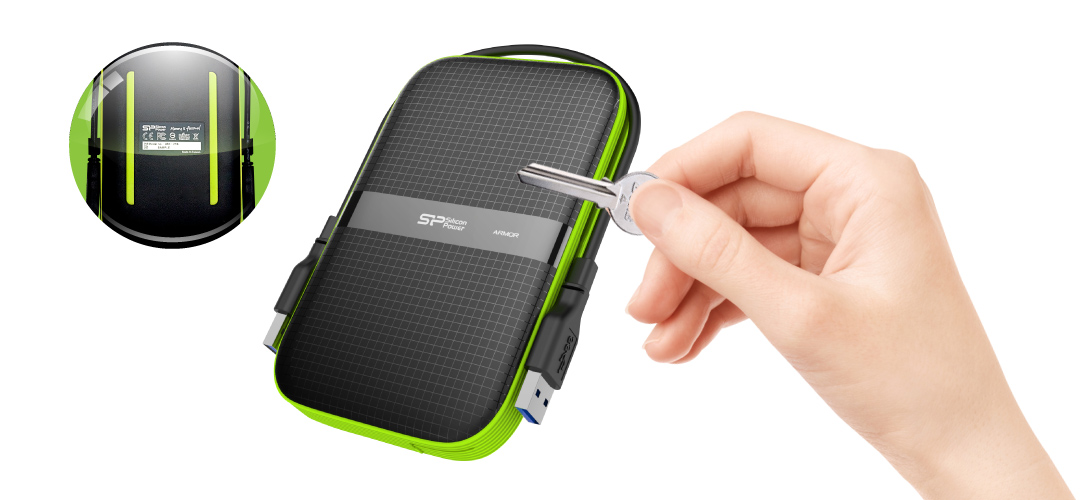 Armor A60<br><font color='#888888' size='2%'>(portable hard drive)</font> Anti-slip, Anti-scratch