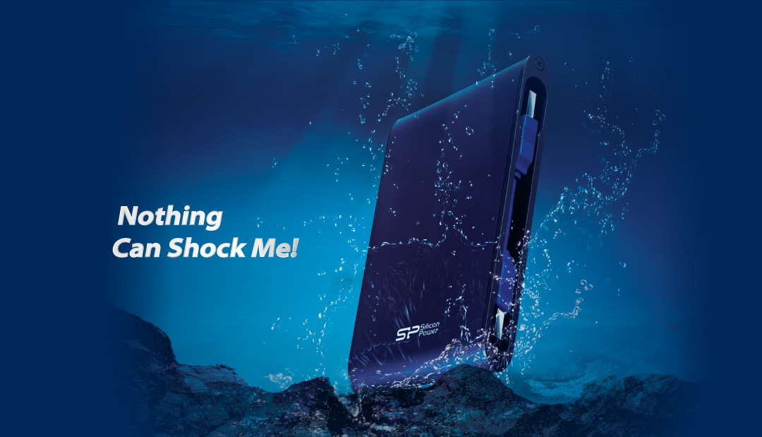 Armor A80<br><font color='#888888' size='2%'> 1TB, 2TB</font> Waterproof and Military- Grade Shockproof Portable Hard Drive