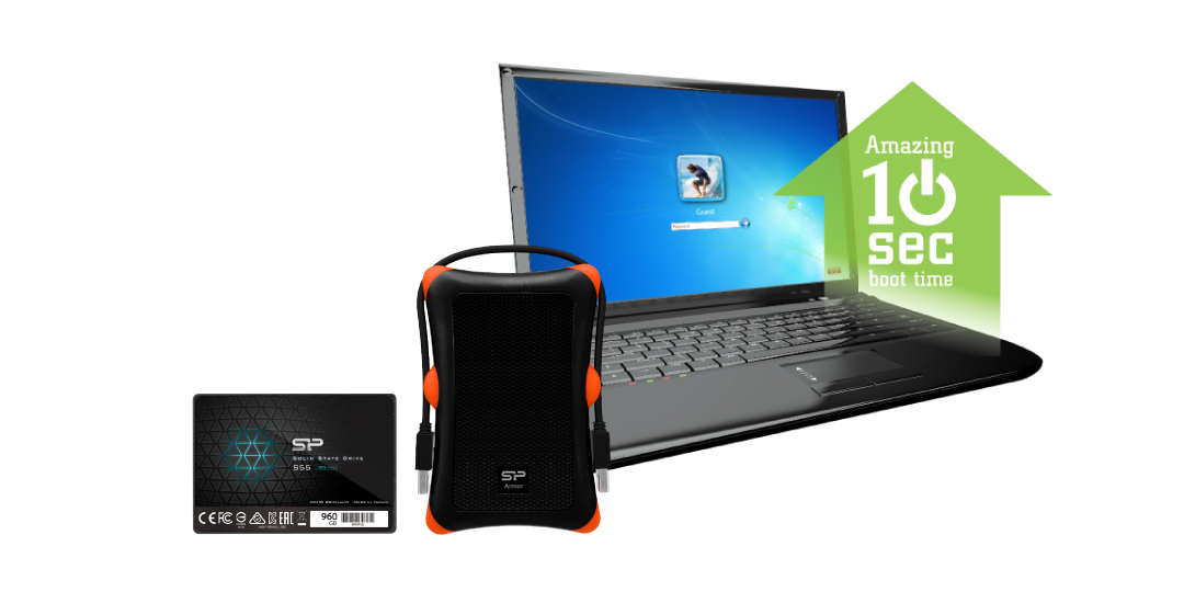 Slim S55 Upgrade Kit<br><font color='#888888' size='2%'> R/W:560/530/s </font> Smart choice for computer upgrade