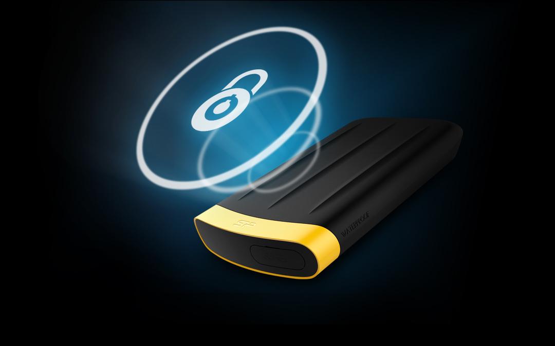 Armor A65<br><font color='#888888' size='2%'>(portable hard drive)</font> A smarter, palm-sized vault