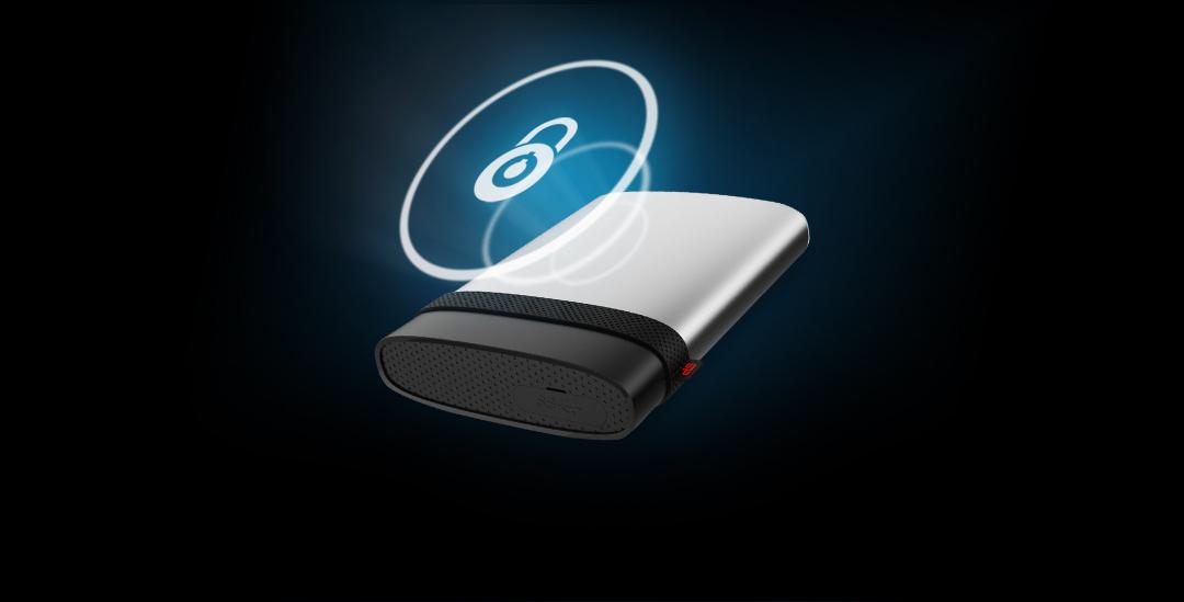 Armor A85<br><font color='#888888' size='2%'>(portable hard drive)</font> A smarter, palm-sized vault