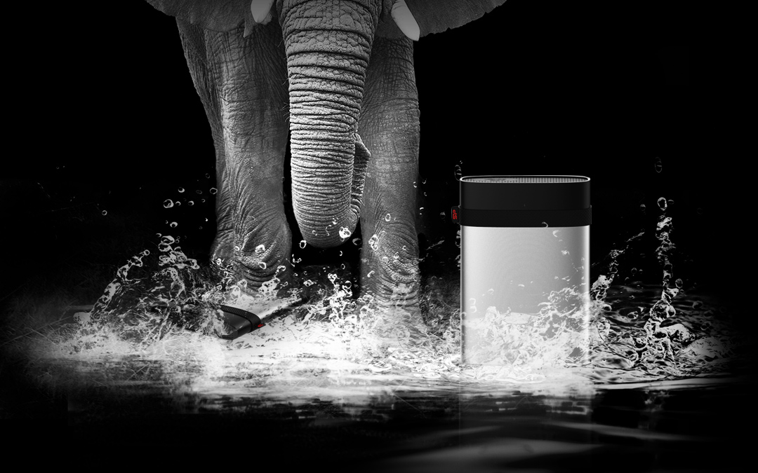 Armor A85M<br><font color='#888888' size='2%'>(portable hard drive)</font> IP68 Waterproof and Military- grade Shockproof Portable Hard Drive for Mac