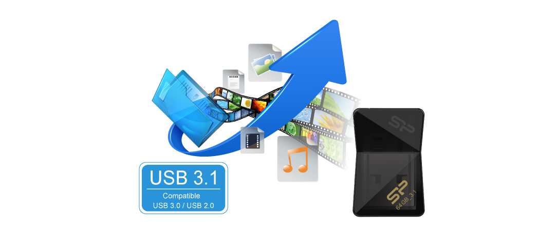 Jewel J08 SuperSpeed USB 3.1 Gen1 interface