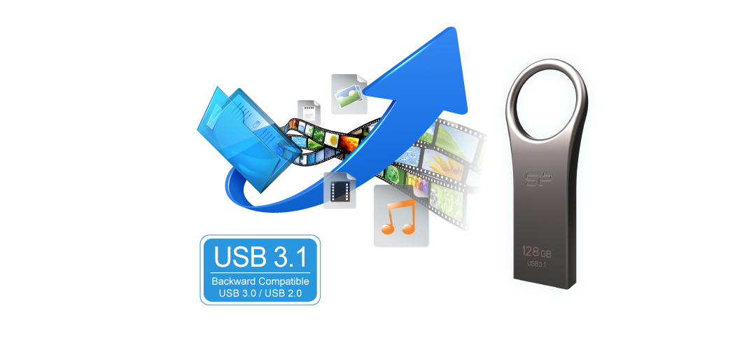 Jewel J80 SuperSpeed USB 3.1 Gen1 interface
