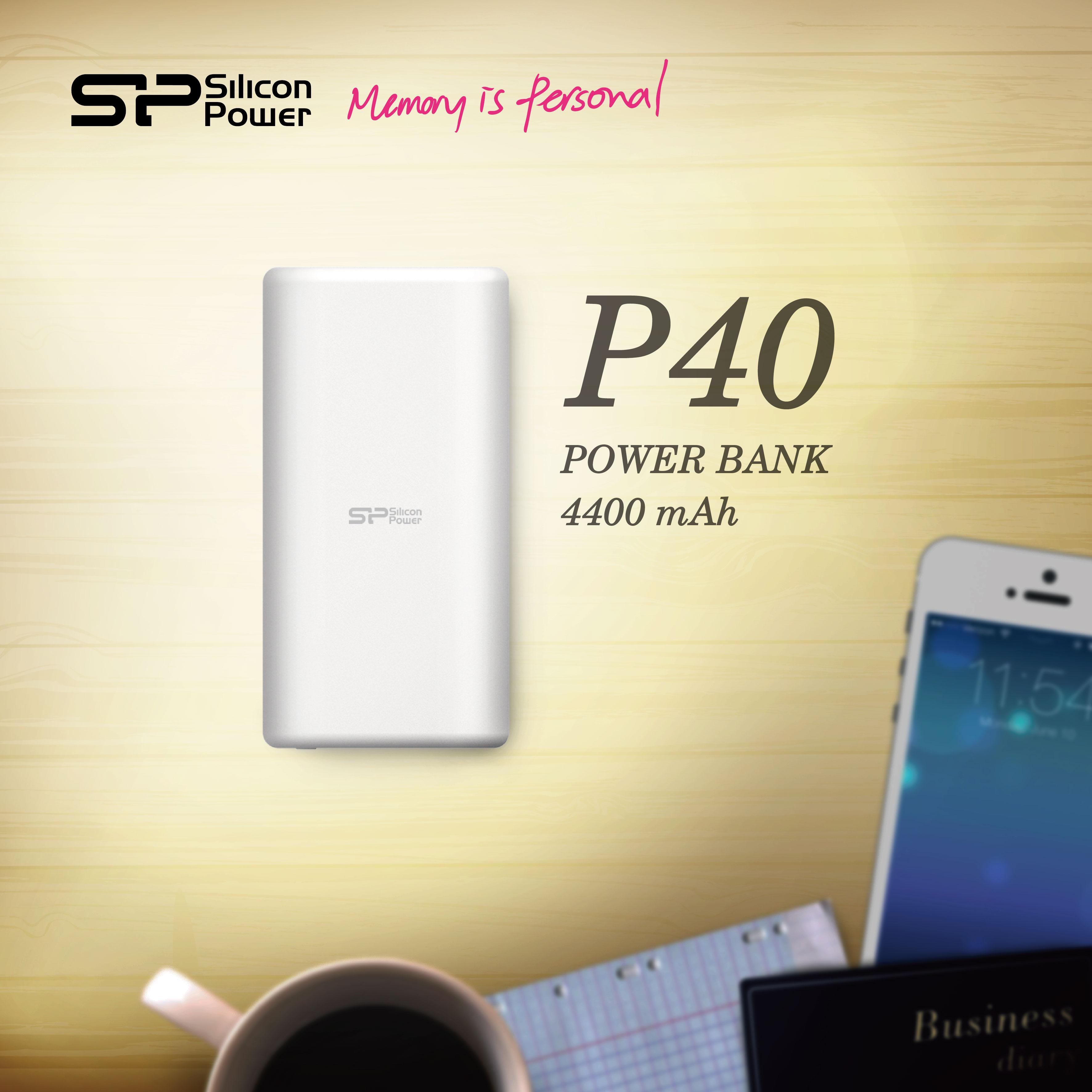 シリコンパワー、小型高出力モバイルバッテリー 「Power P40」をリリース