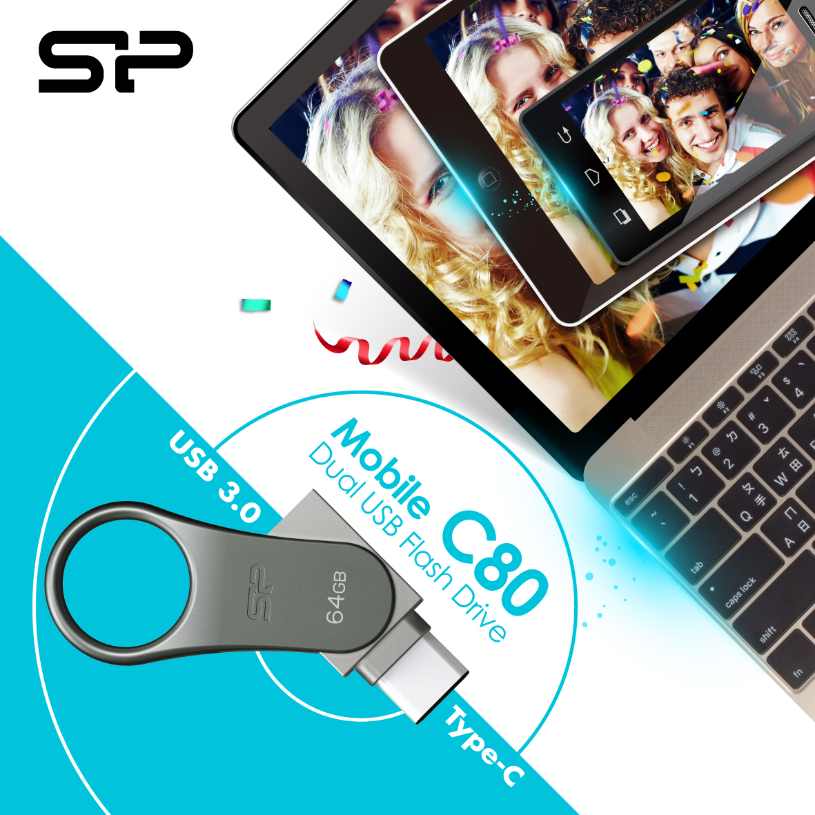 SP Silicon Power Releases Dual USB Drive – Mobile C80 for Type-C Ready Smartphones and Tablets