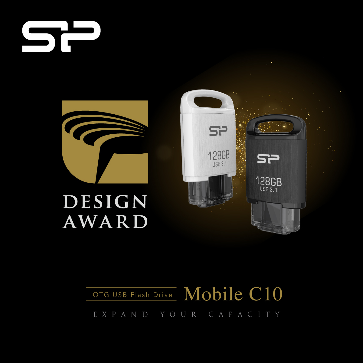 Mobile C10 Flash Drive Wins Coveted Golden Pin Design Award
