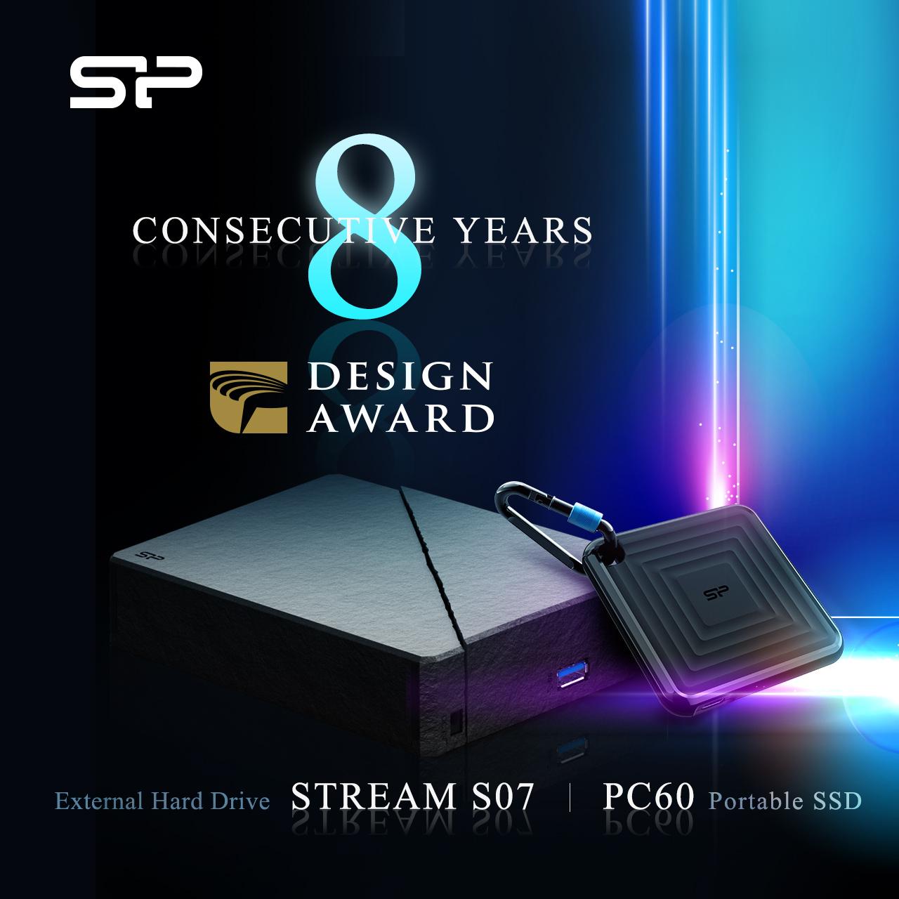 Silicon Power Wins Golden Pin Design Award For 8th Consecutive Year