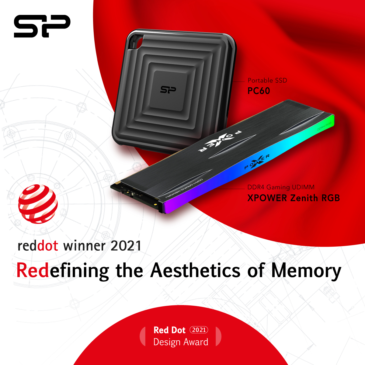 SP Takes Home The Red Dot Award For 2 Products In 2021